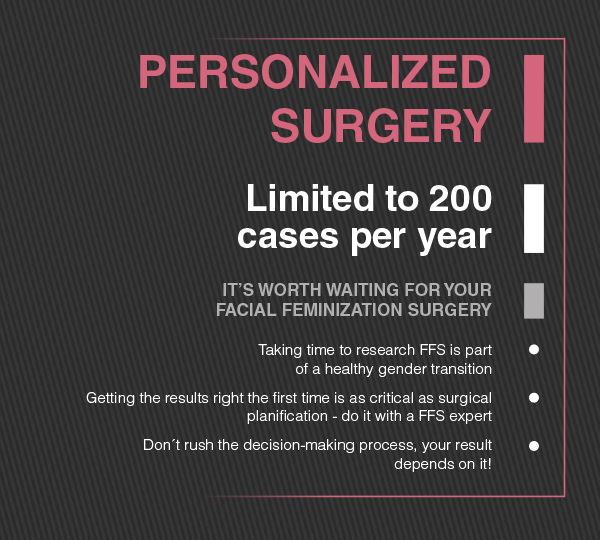 TAILORED SURGERY: JUST 200 PATIENTS PER YEAR